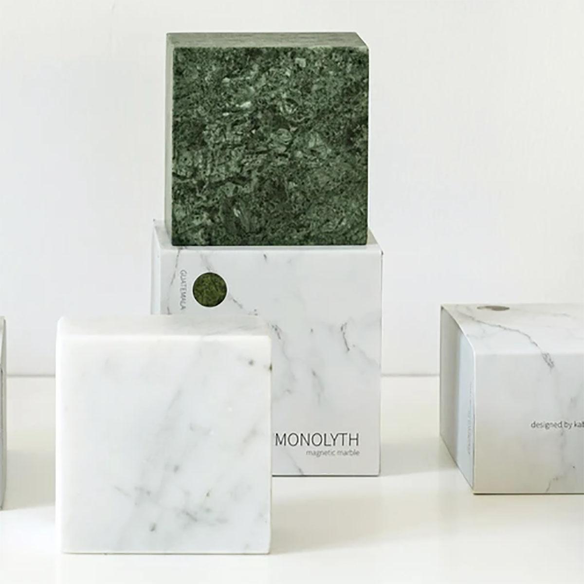 Cubo Magnetico di Marmo Monolite