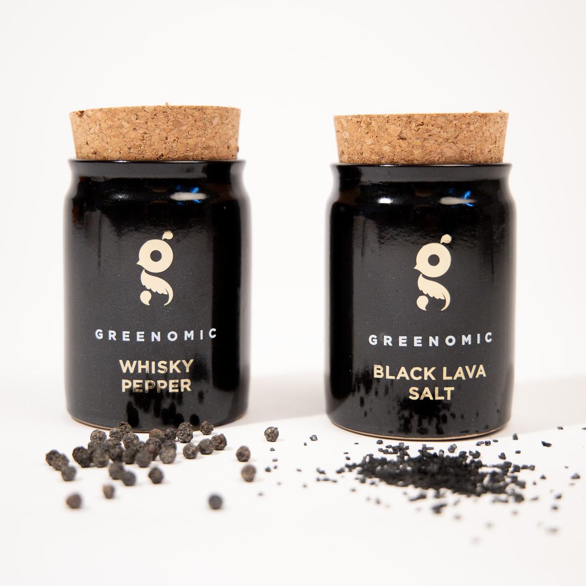 Sale di Lava Nera o Pepe al Whisky