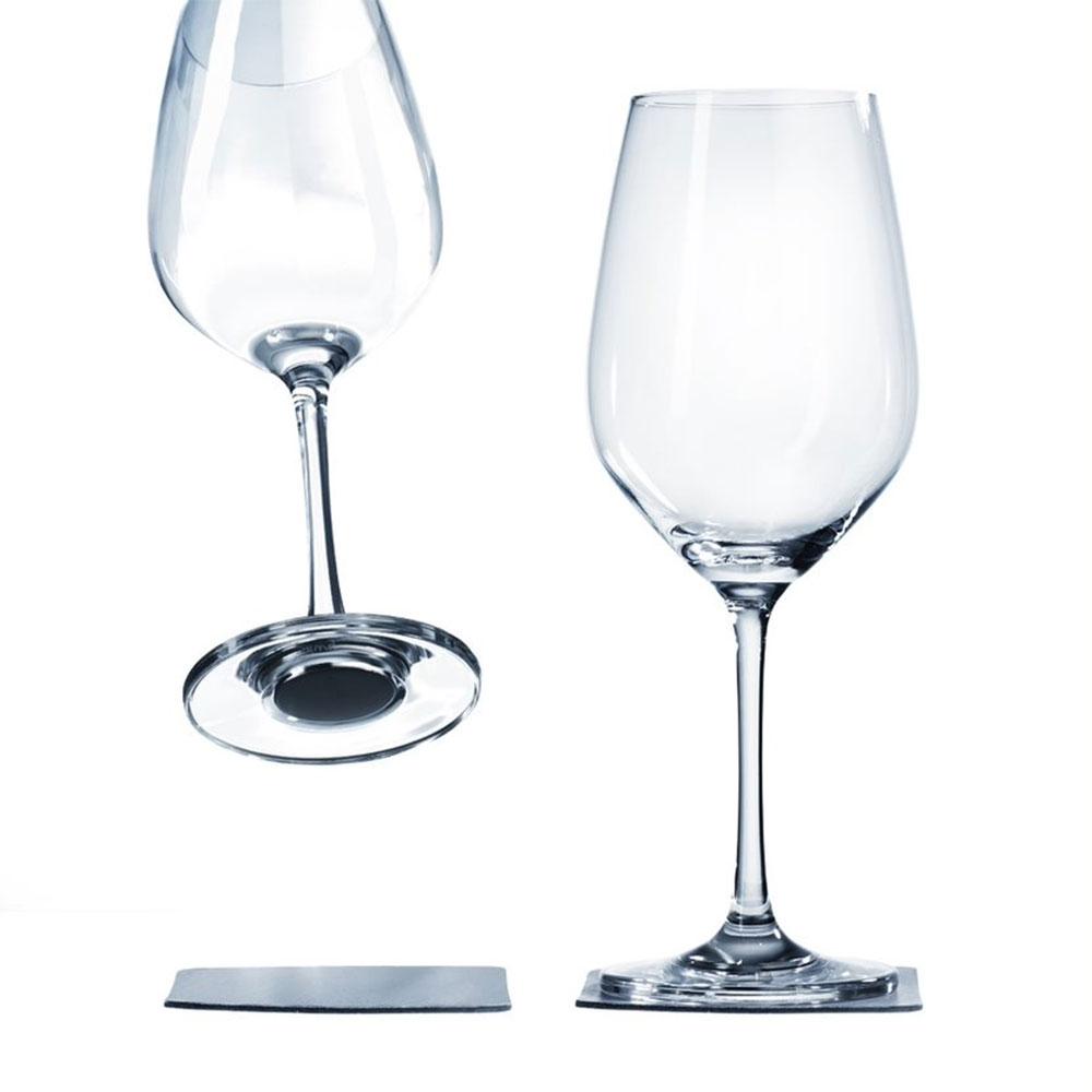 Bicchieri da Vino Magnetici con Sottobicchieri in Gel