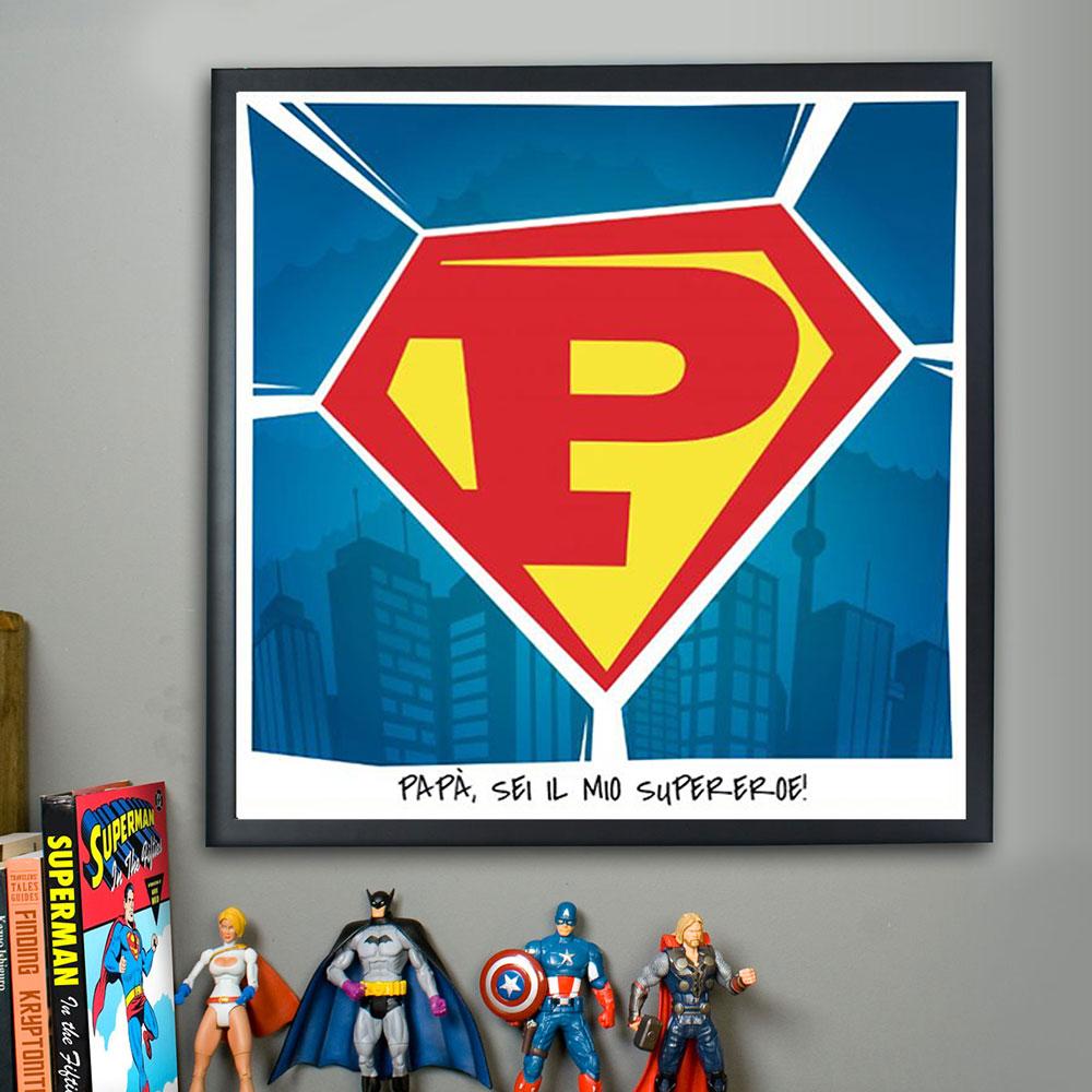 Poster Superman Personalizzabile