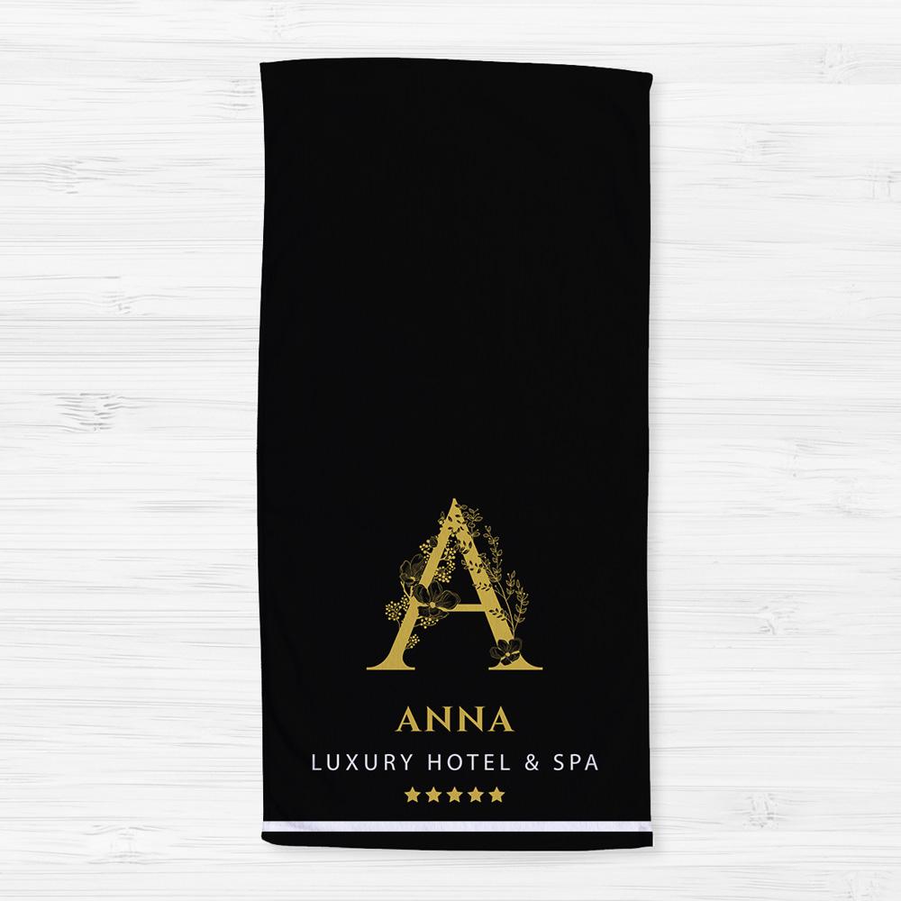 Asciugamano con Monogramma in stile Hotel