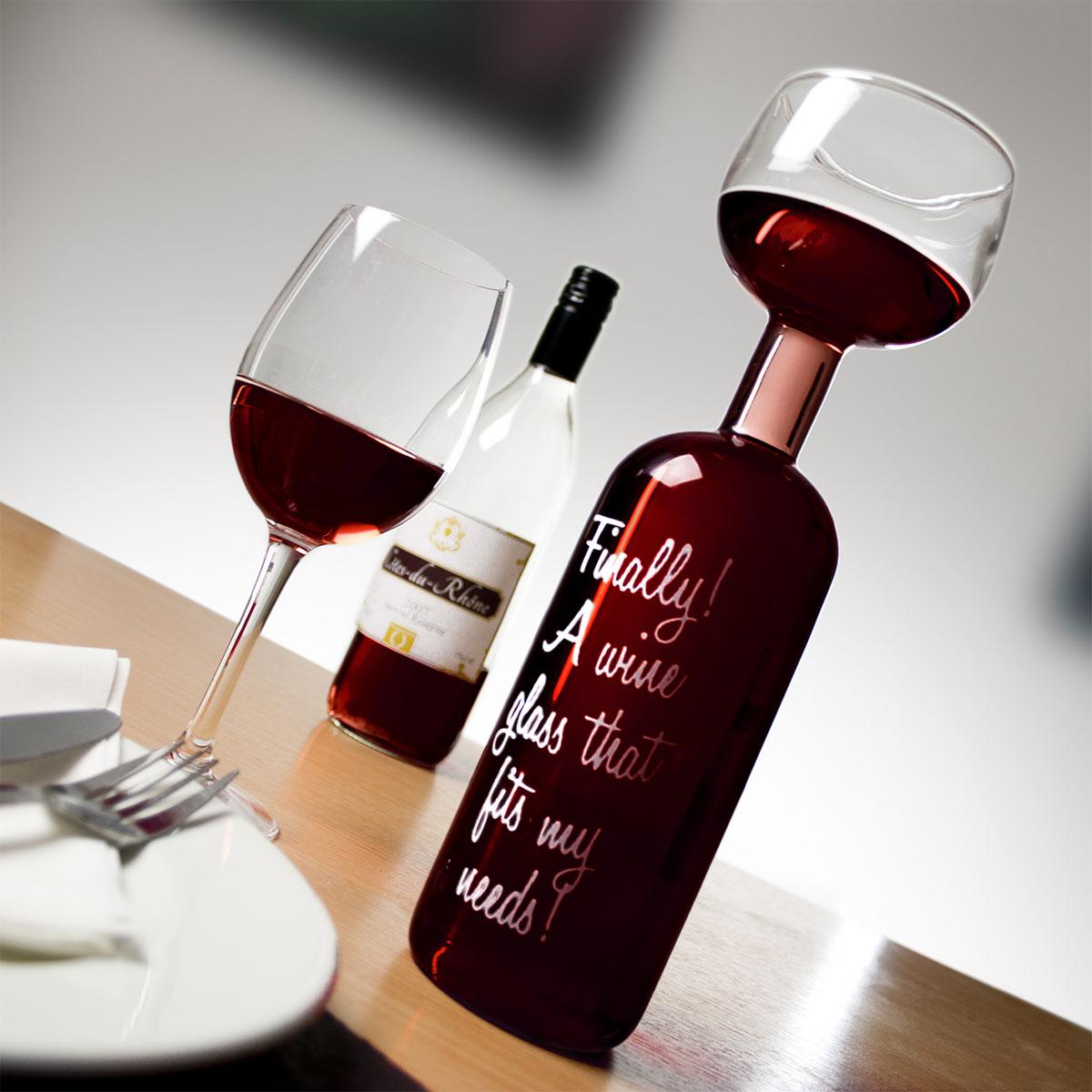 Bottiglia Bicchiere di vino