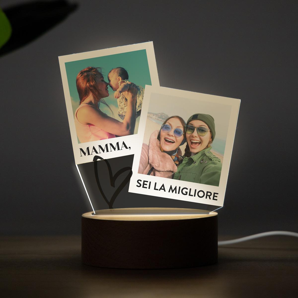 regali per la festa della mamma lampada led con design a polaroid