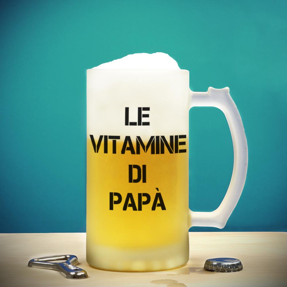 regali per il papà boccale da birra con testo su 4 righe