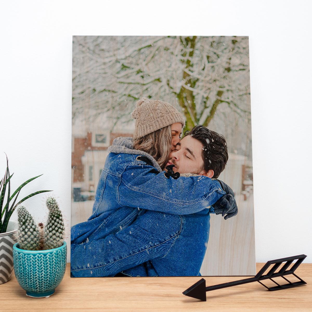 regali di natale per genitori foto su legno personalizzabile