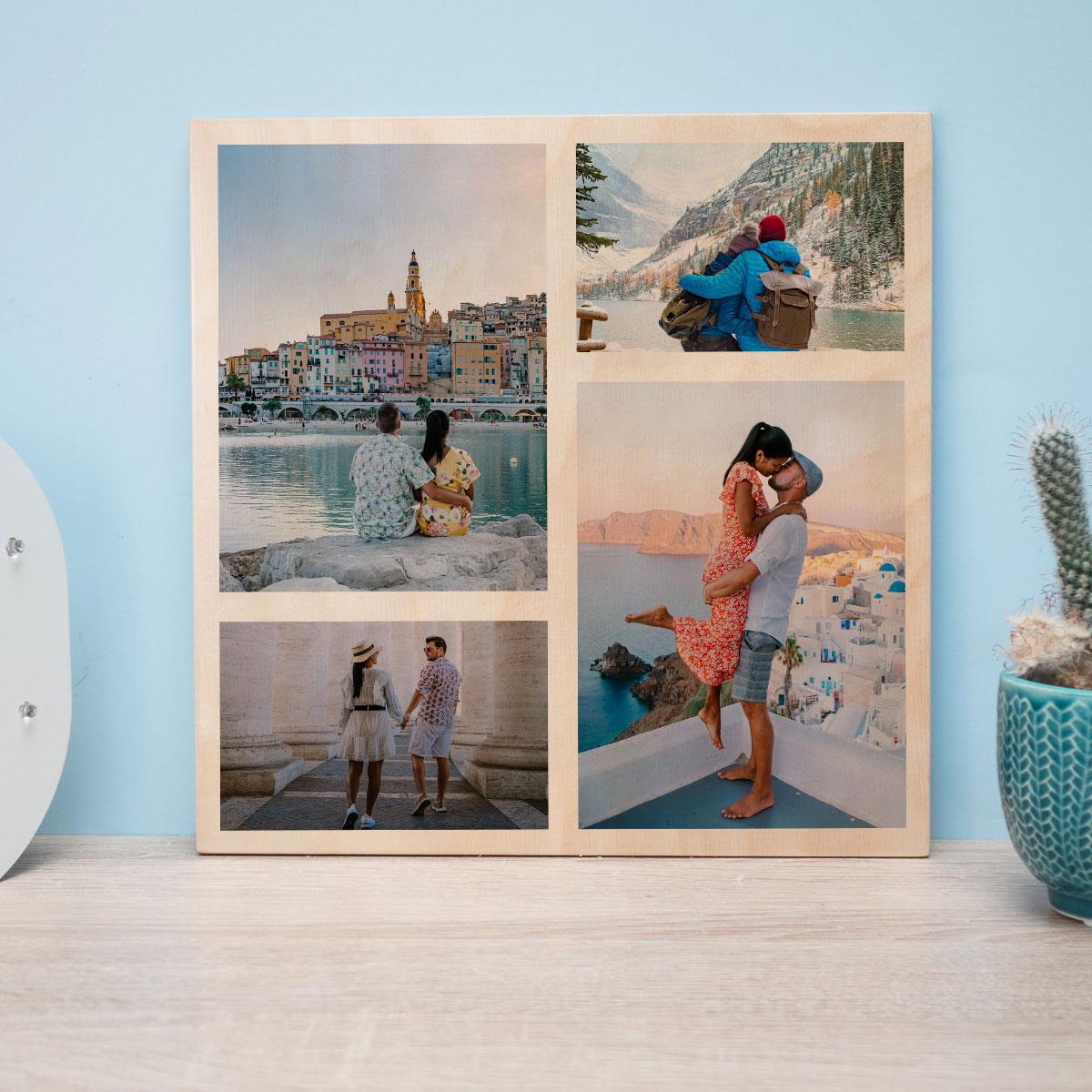 regali di matrimonio 4 foto su legno personalizzabili