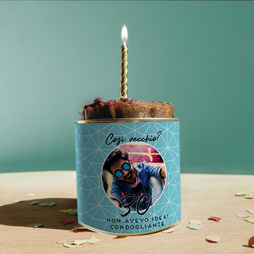 regali di compleanno per lui torta in lattina per il compleanno