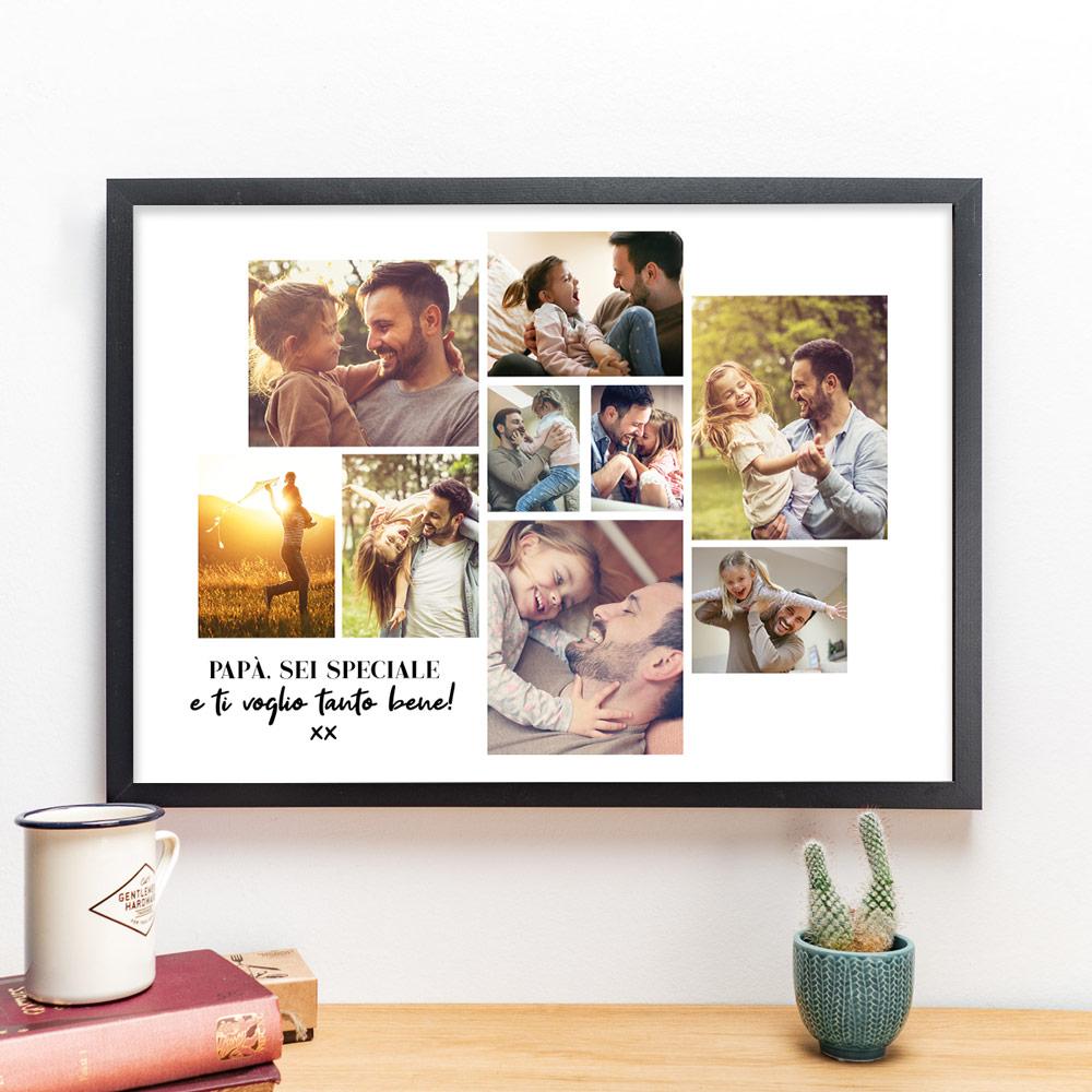 regali per il papà poster con collage di foto e testo