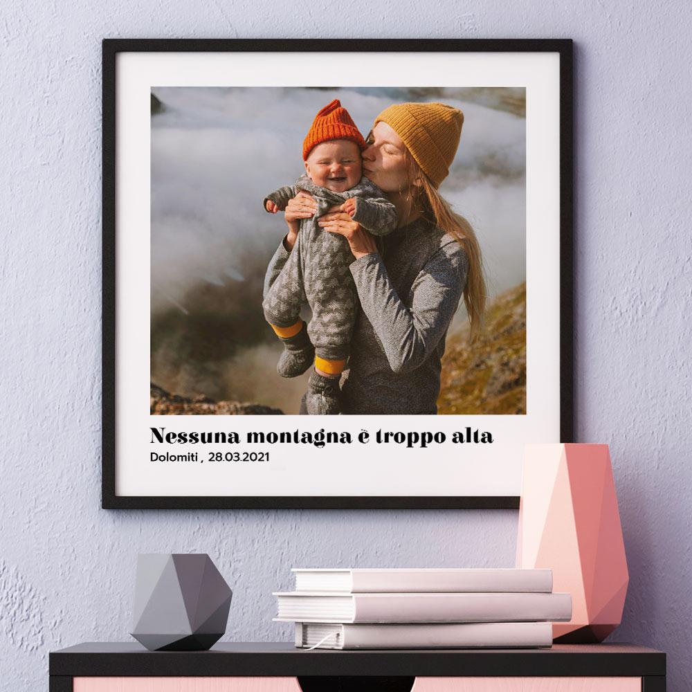 regali per la mamma poster con foto e testo