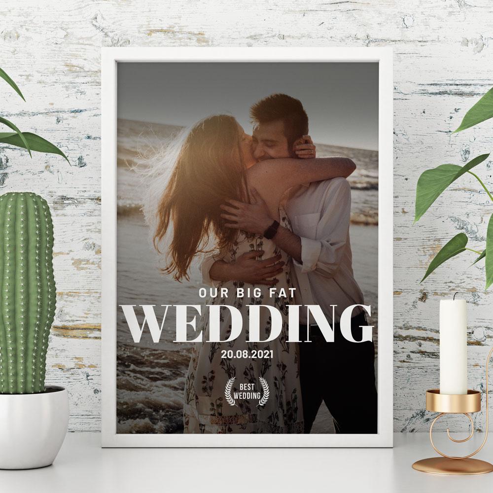 regali per l'anniversario di matrimonio poster personalizzabile imitazione locandina cinema