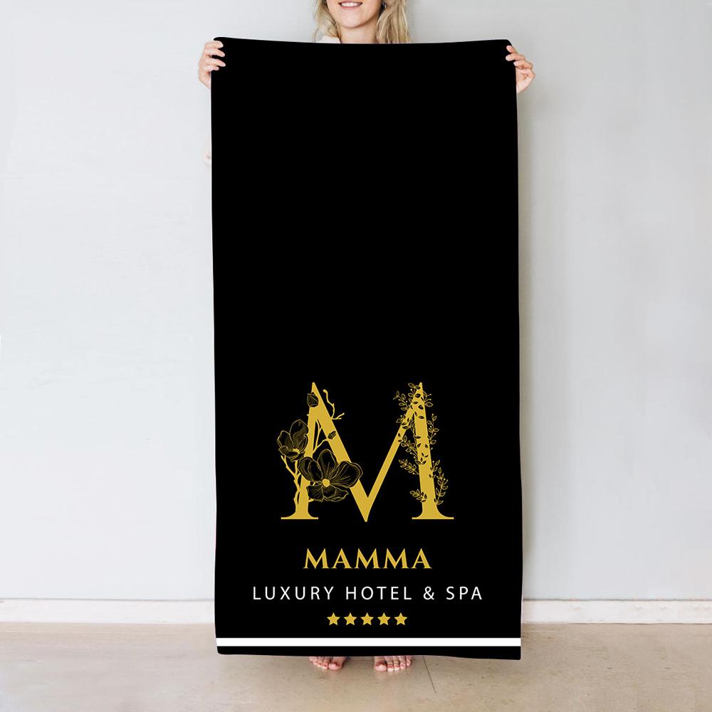 regali per la mamma asciugamano con monogramma in stile hotel