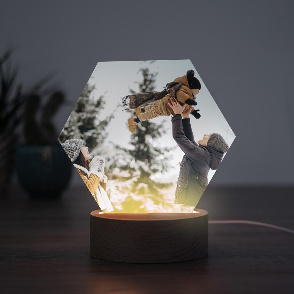 regali di natale lampada led con foto personalizzata