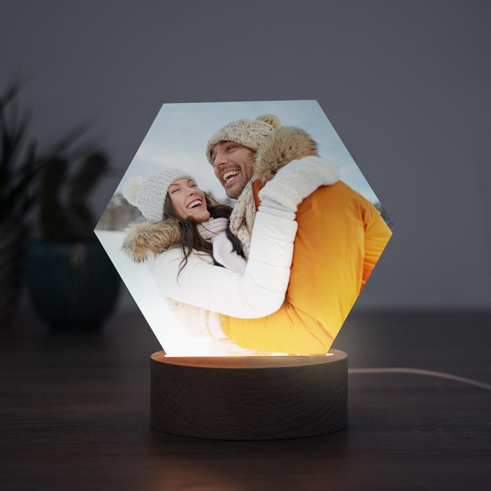 regali di natale per lui lampada led con foto personalizzata