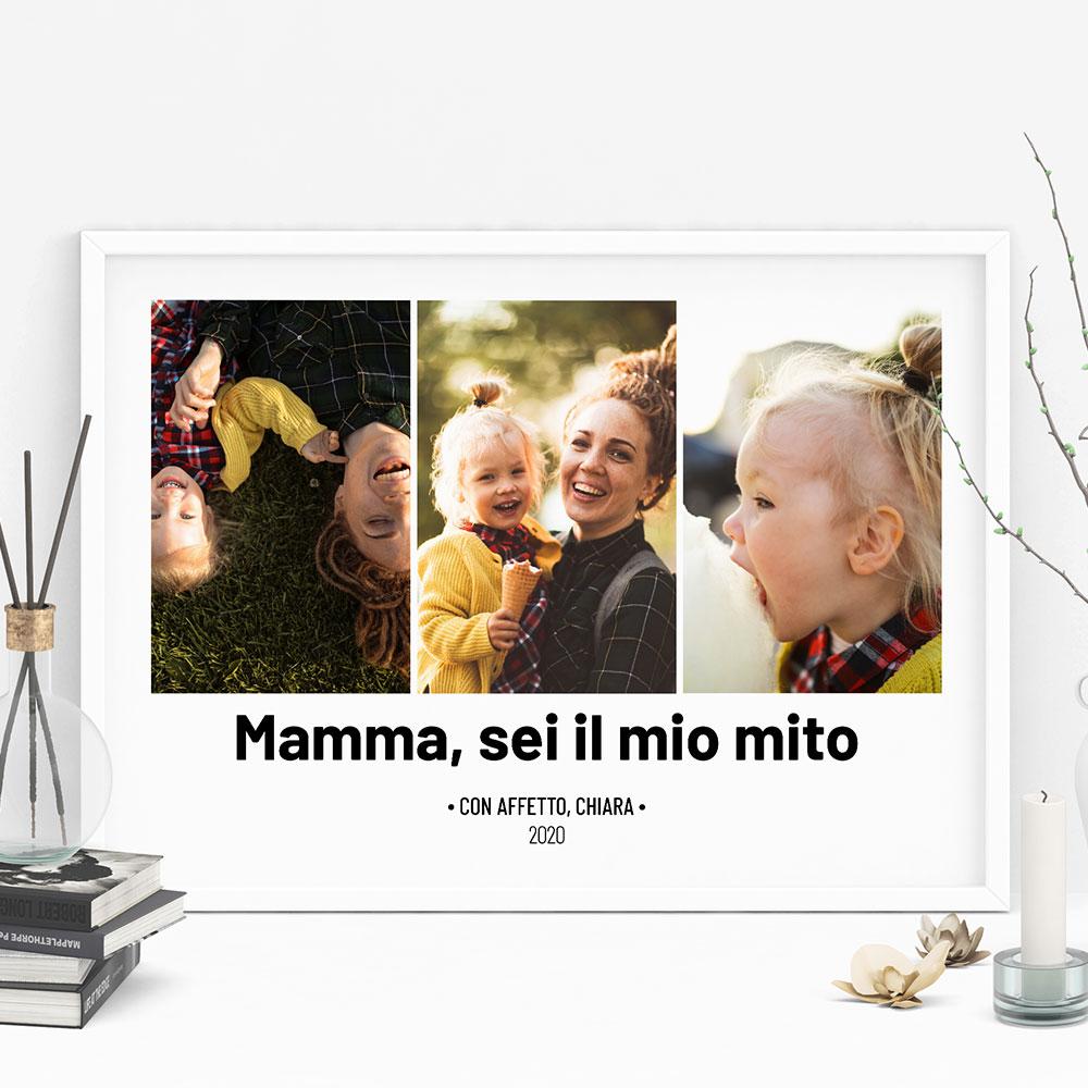 regali per la mamma poster con 3 foto e testo