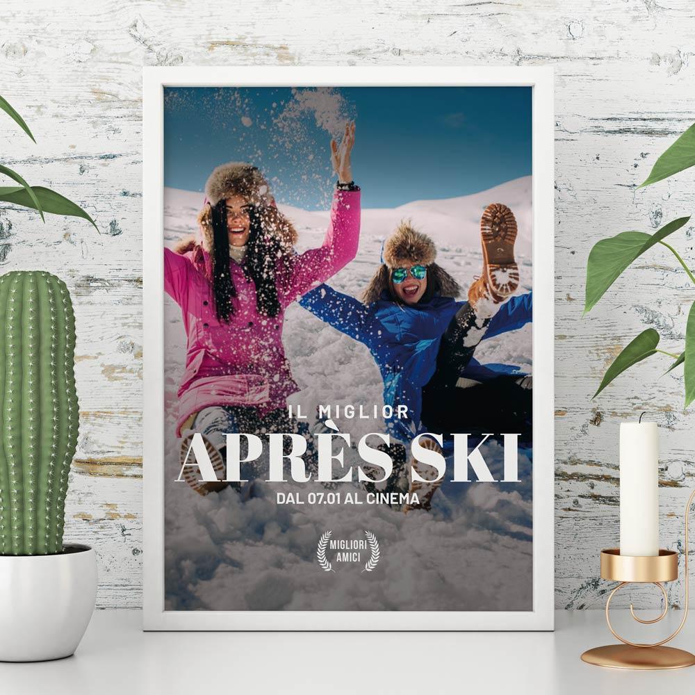 regali di natale poster personalizzabile imitazione locandina di film