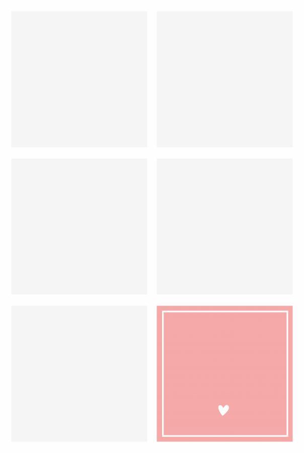 Decke mit 5 Bildern und Text - Rosa
