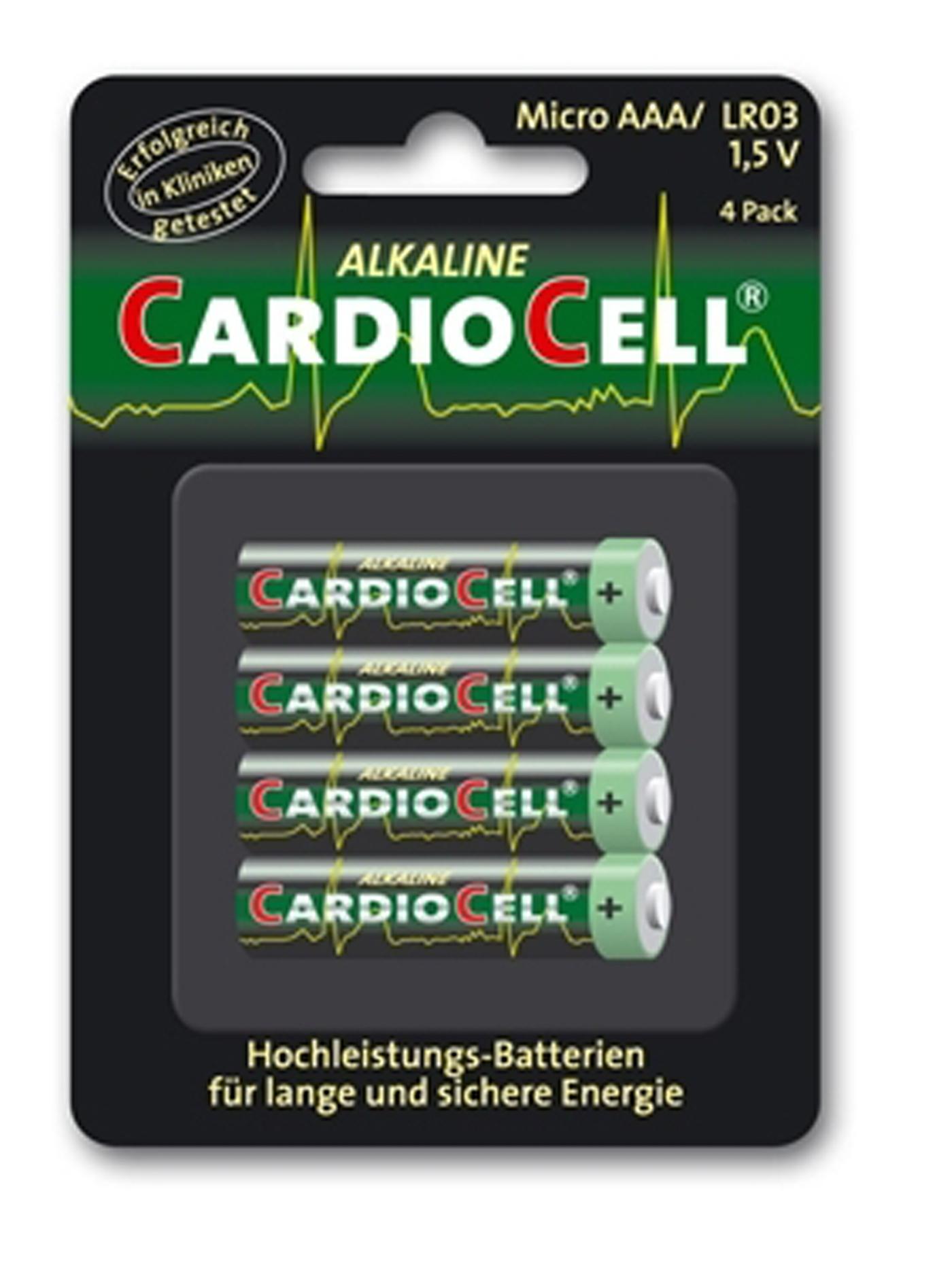 Set da 4 Batterie AAA CardioCell