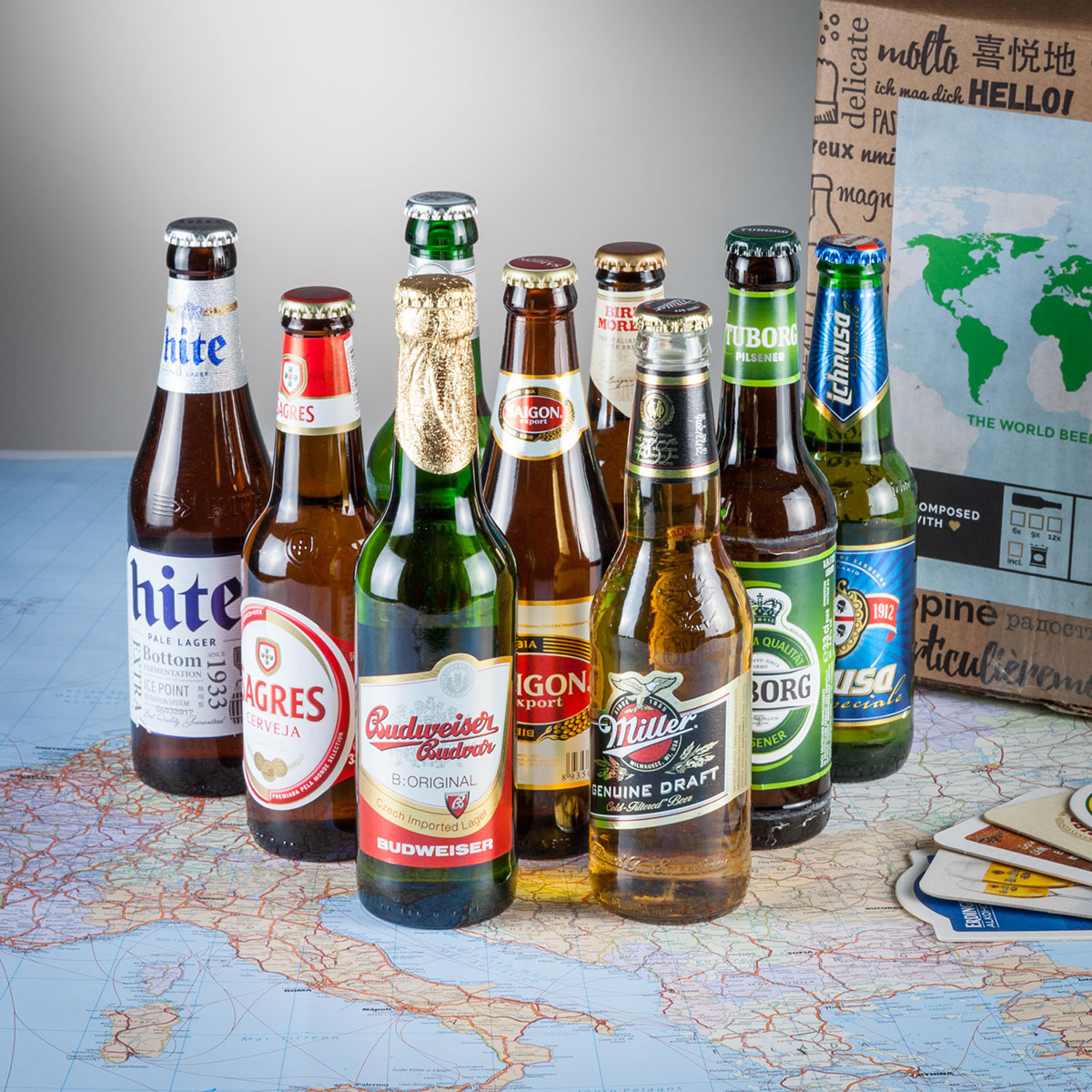 Birre Gift World Travel - Box da 9 bottiglie