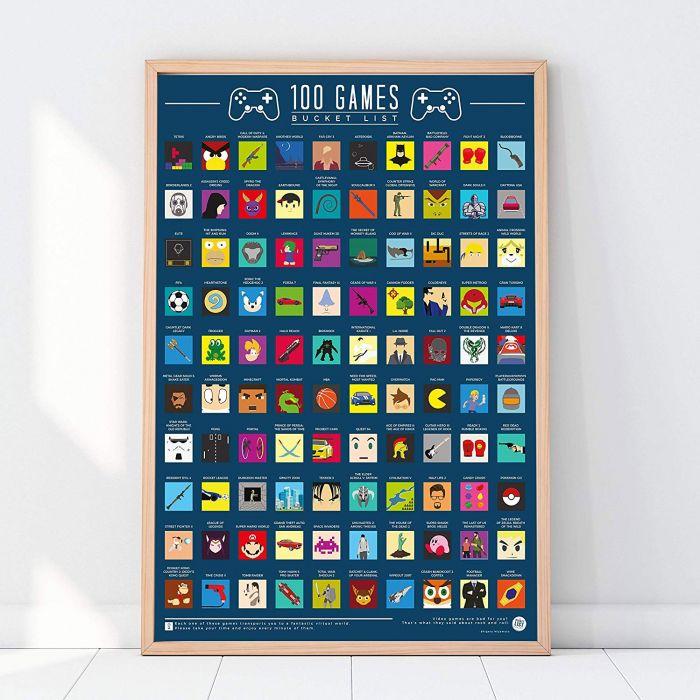 Poster da Grattare - 100 Videogame