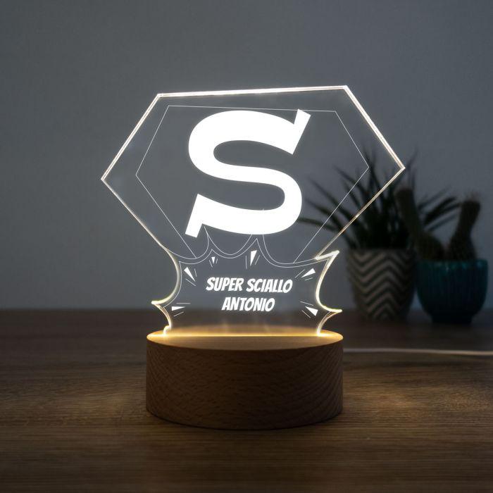 Lampada LED Superman