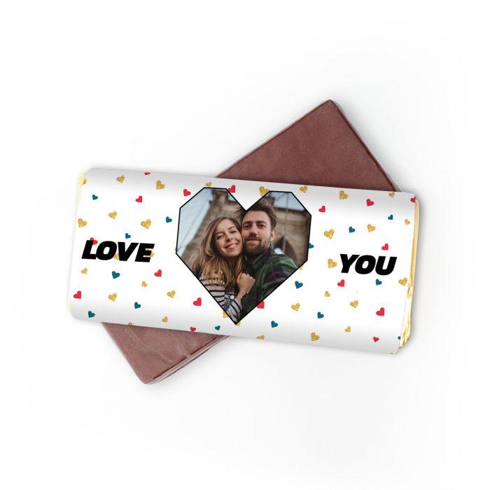Cioccolato personalizzabile con foto e testo