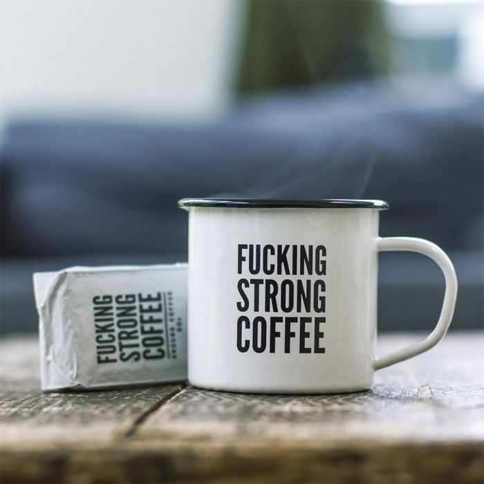 Set con Tazza F*cking Strong Coffee