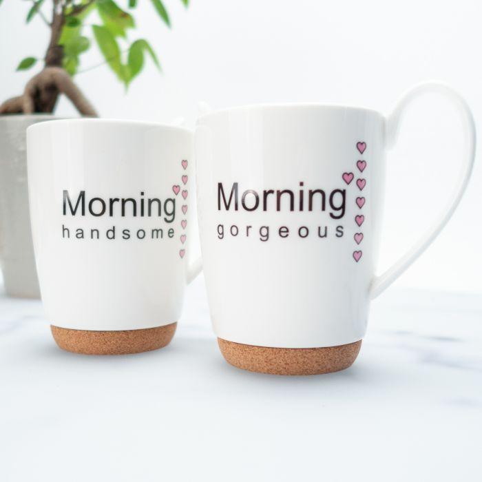 Cofanetto di due tazze Good Morning