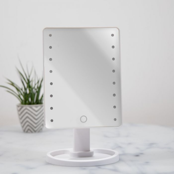 Specchio Hollywood Bianco con LED