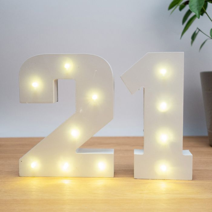 Numeri In Legno Luminosi