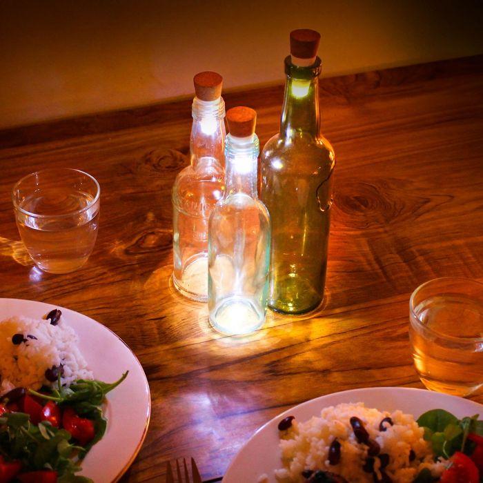 Tappo Luminoso Per Bottiglie - Bianco