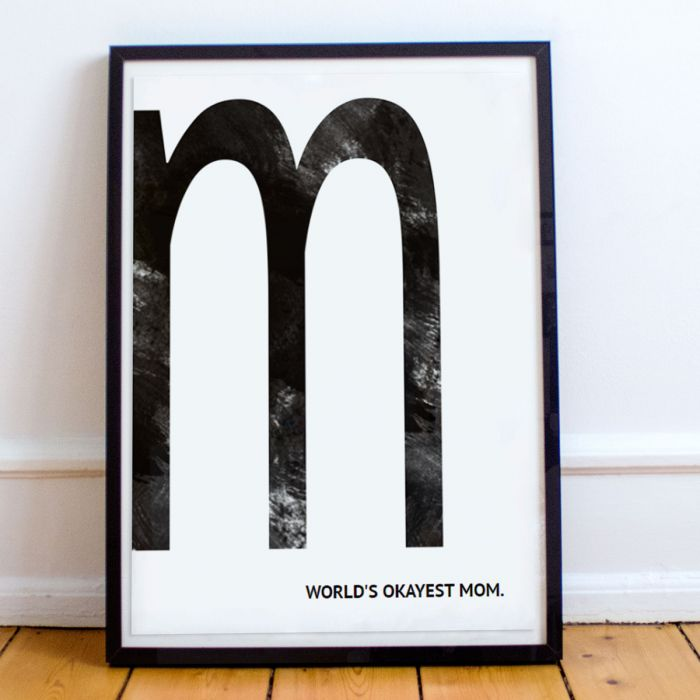Poster Personalizzabile Monogramma