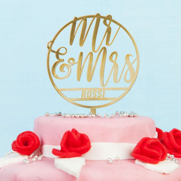 Cake Topper per Torta Nuziale Personalizzabile