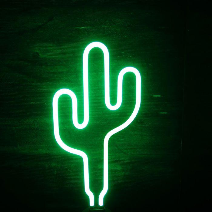 Luci Al Neon Per Ufficio.Lampada Neon Cactus