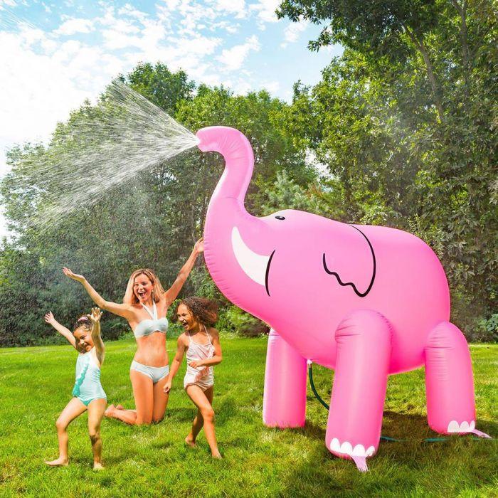 Irrigatore Gigante Elefante Rosa