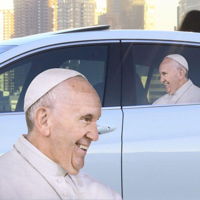 Adesivo Papa per Automobile