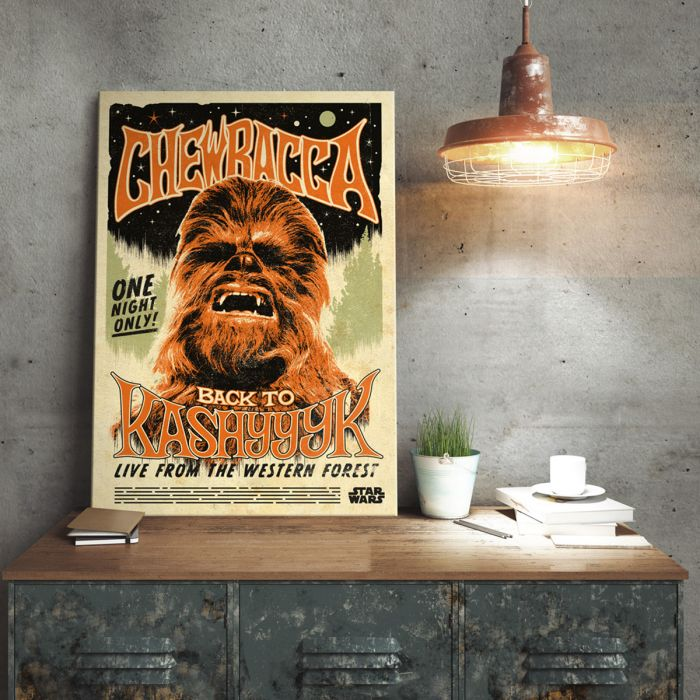 Poster di metallo Star Wars - Chewbacca