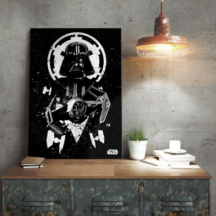Poster di metallo Star Wars - Tie Fighter Vader