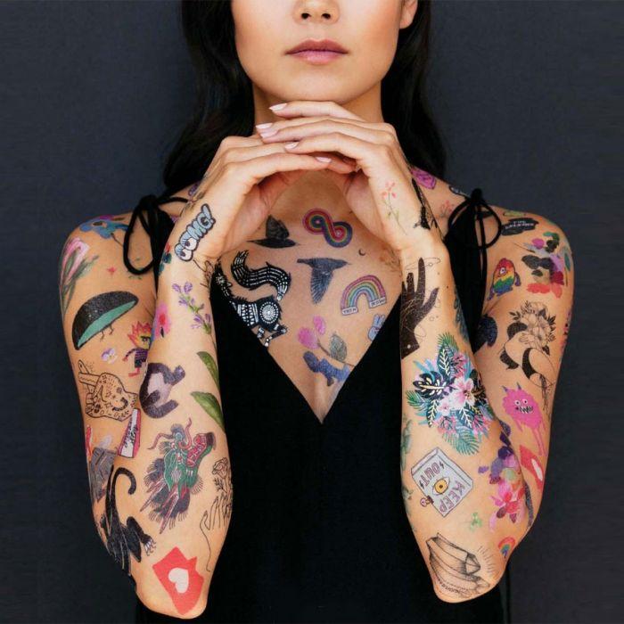 Tatuaggi Temporaneai con Diversi Soggetti