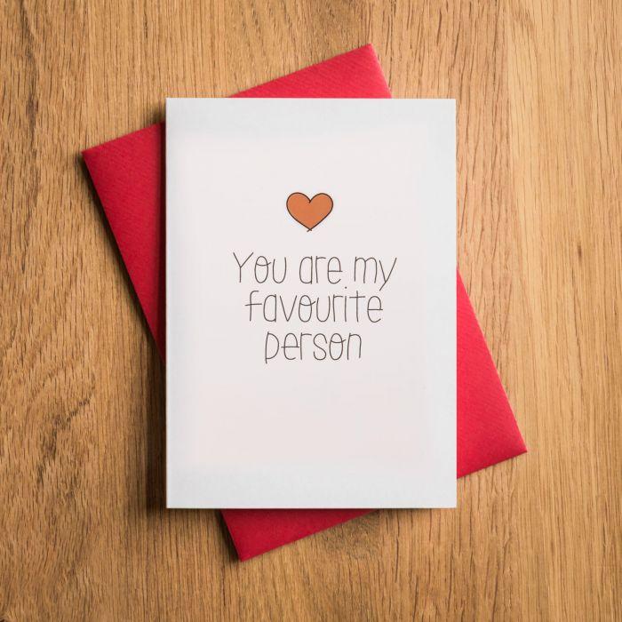 Biglietto di San Valentino - Tu Sei la mia Pesona Preferita