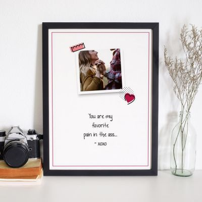 Poster personalizzabile con foto e citazione