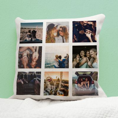 Federa per Cuscino Personalizzabile con 9 Immagini