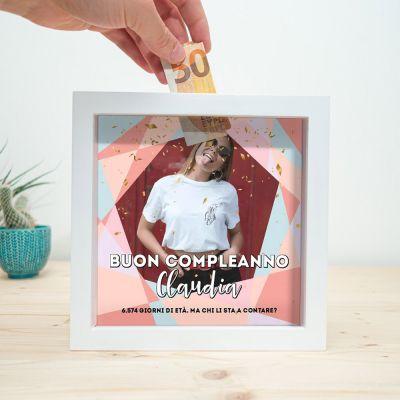 Salvadanaio per il Compleanno Personalizzabile