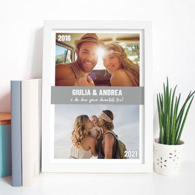 Poster con 2 Foto e Testo