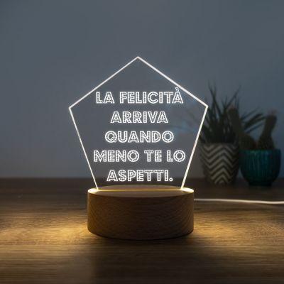 Lampada LED con Testo su 5 Righe