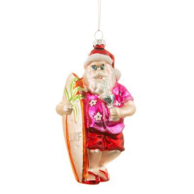Palla di Natale Babbo Natale Tropicale