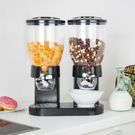 Doppio Dispenser per Cereali