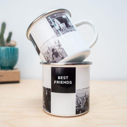 Tazza in Metallo Personalizzabile con Foto e Testo