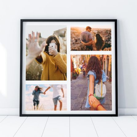 Foto poster personalizzabile con 4 foto