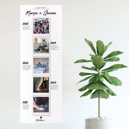 Poster fotografico personalizzabile La nostra storia