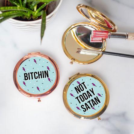 Specchio tascabile personalizzabile con testo